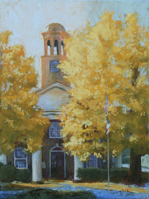 The Old Courthouse, 9am Art Print by Carol Strickland