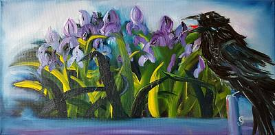 Painting - The Old Crows Iris Patch        30 by Cheryl Nancy Ann Gordon
