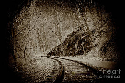 Photograph - The Old Curve Tracks by Paul W Faust - Impressions of Light