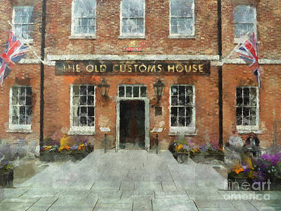 Digital Art - The Old Customs House by Claire Bull