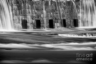 Photograph - The Old Dam Bw by Patrick M Lynch