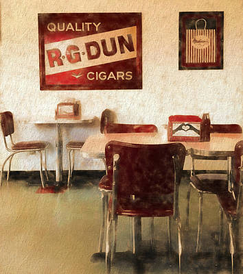 Dinner Mixed Media - The Old Diner by Dan Sproul