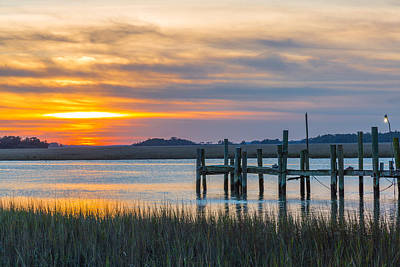 Photograph - The Old Dock - Charleston Low Country by Donnie Whitaker