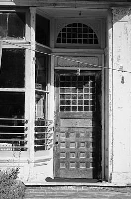 Photograph - The Old Door At Port Costa B And W by Joyce Dickens