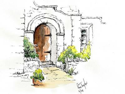 Entrance Door Mixed Media - The Old Door by Pam Taylor