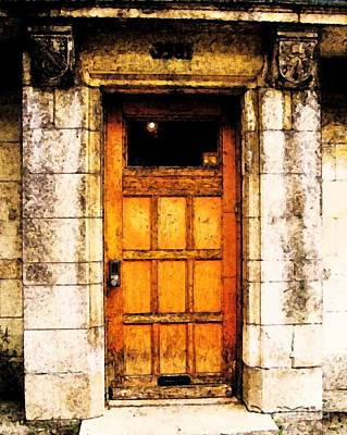 Stone Buildings Digital Art - The Old Door by Reb Frost