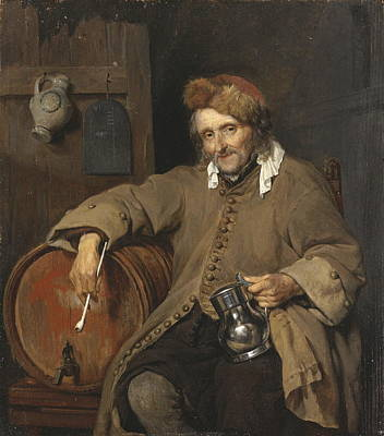 Real Experiences Painting - The Old Drinker, 1663 by Gabriel Metsu