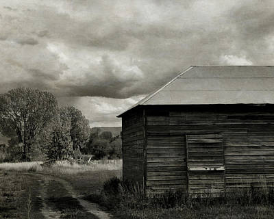 Photograph - The Old Farm Bw by David King