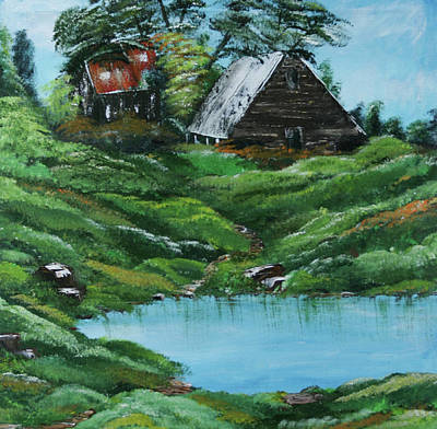 The Old Farm Original by Robin Lee