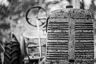 Photograph - The Old Farm Tractor by Edward Fielding