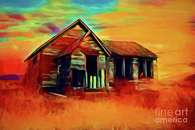 Photograph - The Old Farmhouse 14918 by Ray Shrewsberry