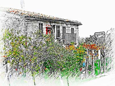 Photograph - The Old Farmhouse by Dorothy Berry-Lound