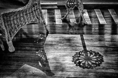 The Old-fashioned Porch - Black And White Art Print by Mitch Spence