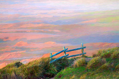 Photograph - The Old Fence At Point Reyes by Bonnie Follett