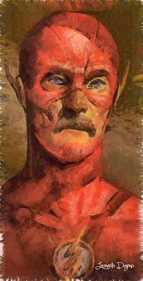 Batman Digital Art - The Old Flash - Da by Leonardo Digenio