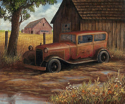 Wavra Wall Art - Painting - The Old Ford by Robert Wavra