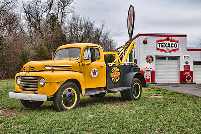 Photograph - The Old Ford Tow Truck by Kristia Adams
