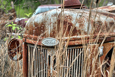 Photograph - The Old Ford Tractor by JC Findley