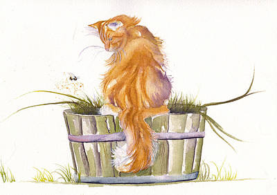Barrel Painting - The Old Garden Tub by Debra Hall