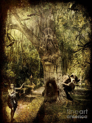 Digital Art - The Old Goat Tree by Rhonda Strickland