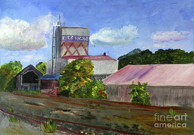 Painting - The Old Grain Mill by Donna Walsh