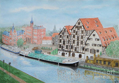 Painting - The Old Granaries Bydgoszcz by Yvonne Johnstone
