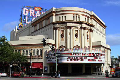 Photograph - The Old Grand Lake Theatre Oakland California 7d13474 by San Francisco Art and Photography
