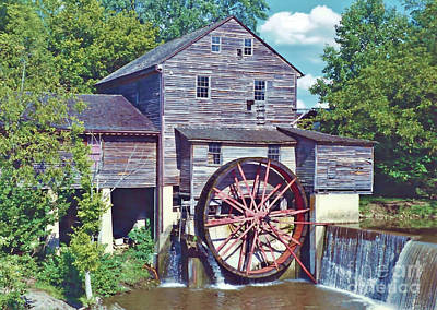 Photograph - The Old Grist Mill by D Hackett