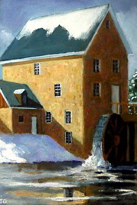Grist Mill Painting - The Old Grist Mill by Joyce Geleynse