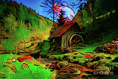 Photograph - The Old Gristmill 17018 by Ray Shrewsberry