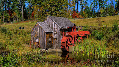 Photograph -  The Old Guildhall Grist Mill by Scenic Vermont Photography