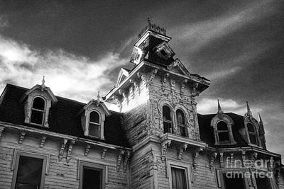 The Old Haunted Bruce Mansion Art Print by Jeff Holbrook