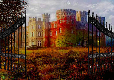 The Old Haunted Castle Original by Michael Rucker