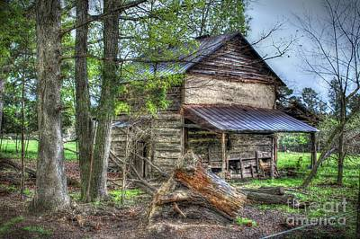 The Old Home In The Hills Art Print