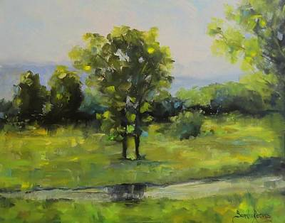 Painting - The Old Home Place by Sandra Reeves