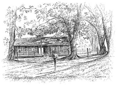 Drawing - The Old Homeplace by Randy Welborn