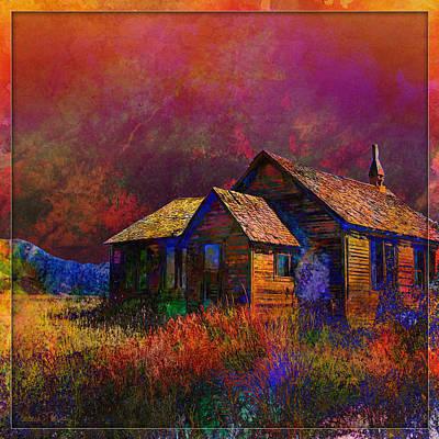 Digital Art - The Old Homestead by Barbara Berney
