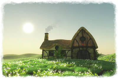 Digital Art - The Old Homestead... by Tim Fillingim