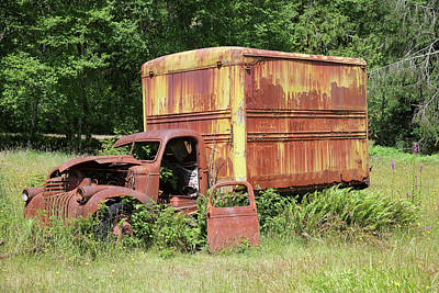 Photograph - The Old Homestead Truck by Richard J Cassato
