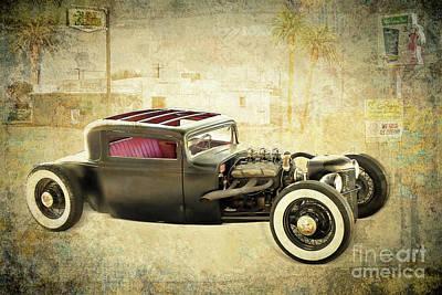 Mixed Media - The Old Hotrod by Gabriele Pomykaj