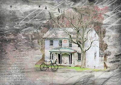 Digital Art - The Old House by Nadine Berg