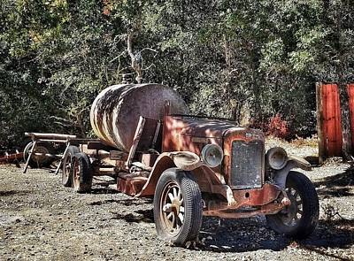 Photograph - The Old Jalopy In Wine Country, California  by Mary Capriole