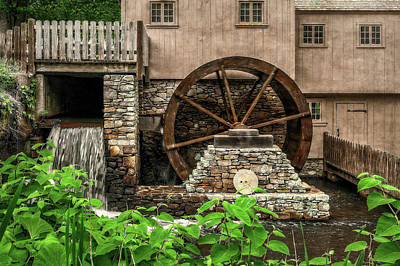 Photograph - The Old Jenney Grist Mill  -  Oldmillsalemlab184841 by Frank J Benz