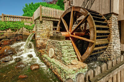 Photograph - The Old Jenney Grist Mill  -  Theoldmillplymouthma184872 by Frank J Benz