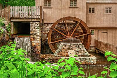 Photograph - The Old Jenney Grist Mill  -  Theoldmillsalemmala by Frank J Benz
