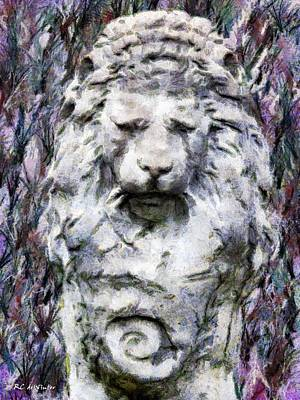 The Old King Weeps Print by RC deWinter
