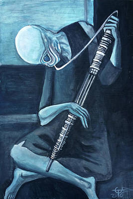 Painting - The Old Kloonhornist by Tom Carlton