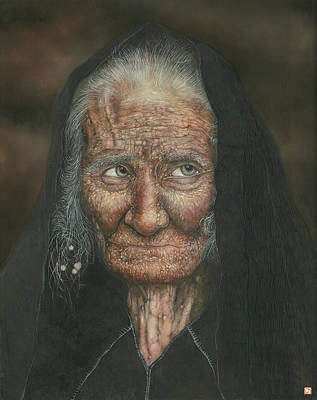 The Old Lady Art Print by Connor Maguire