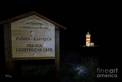 Photograph - The Old Lighthouse Cafe Flosin Kaffihus by Rene Triay Photography