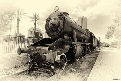 The Old Locomotive Art Print by Uri Baruch